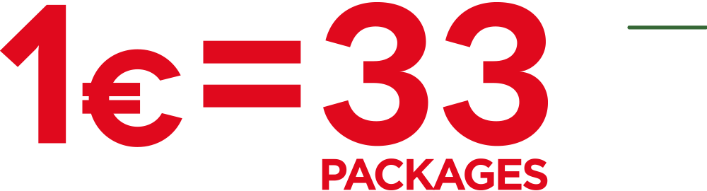 1 euro 33 packages
